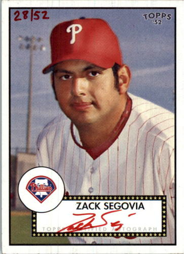 Photo of 2007 Topps 52 Signatures Red Ink #ZS Zack Segovia
