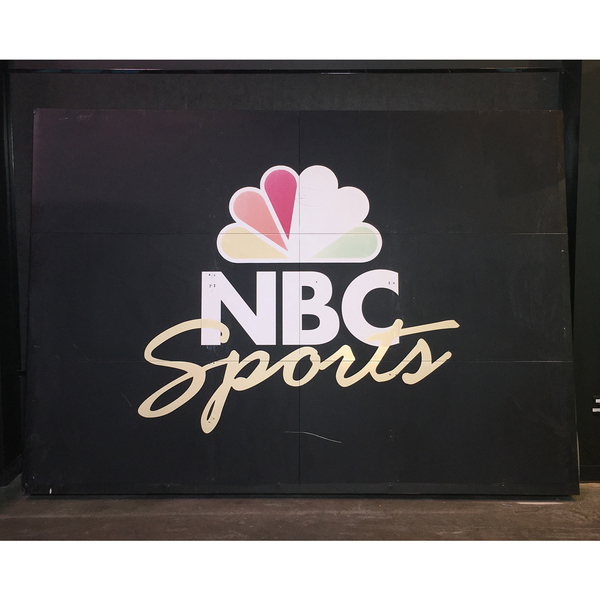 Photo of NBC Scoreboard Sign from Notre Dame Stadium