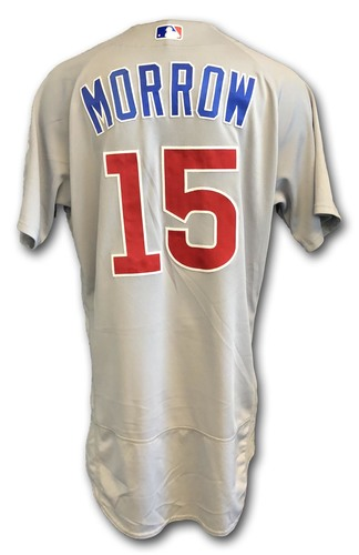 Photo of Brandon Morrow Game-Used Jersey -- Opening Day 2018 -- Cubs at Marlins -- 3/29/18
