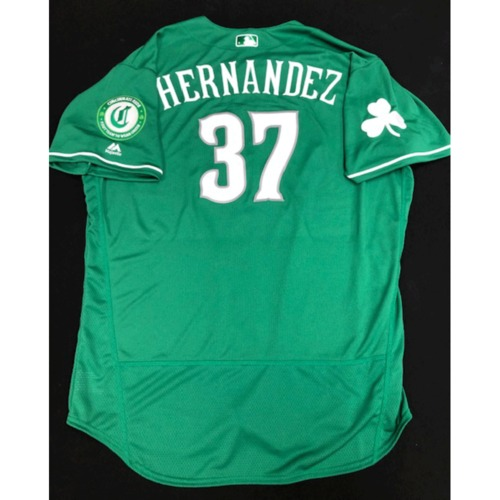 Photo of David Hernandez -- Team-Issued Jersey -- 2019 St. Patrick's Day