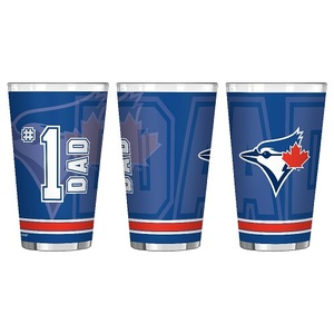 Toronto Blue Jays #1 Dad Pint Glass by Boelter Brands