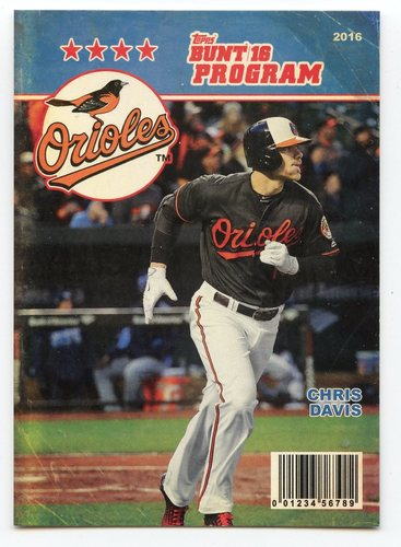 Photo of 2016 Topps Bunt Programs #P3 Chris Davis