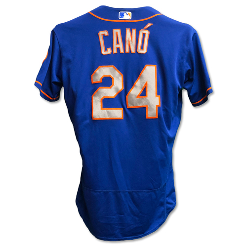 Photo of Robinson Cano #24 - Team Issued Blue Alt. Road Jersey - 2019 Season