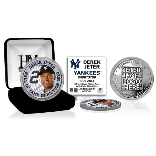 Photo of Derek Jeter 2020 HOF Color Silver Coin