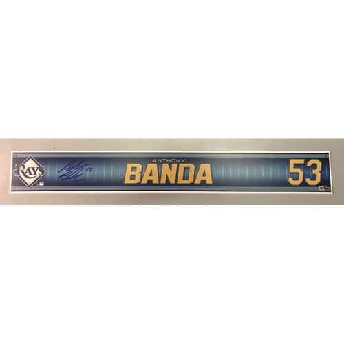 Photo of Team Issued Autographed Spring Training Locker Tag: Anthony Banda