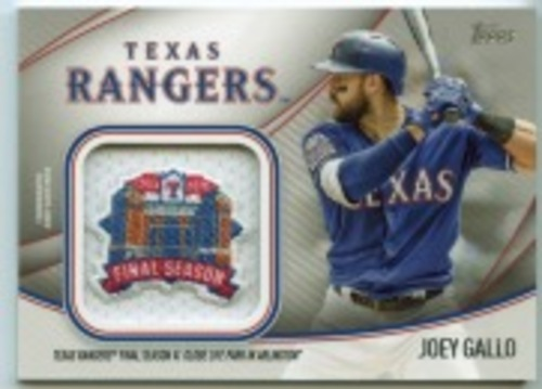 Photo of 2020 Topps Jumbo Special Event Jersey Sleeve Patches #JSESJG Joey Gallo
