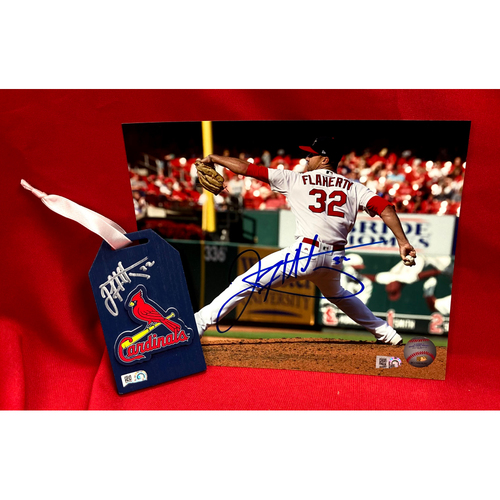 Photo of Jack Flaherty Autographed Wood Ornament and Photo