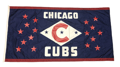 Photo of Wrigley Field Collection -- Chicago Cubs Championship Stars Flag