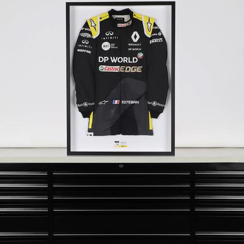 Photo of Esteban Ocon 2020 Framed Signed Race-worn Race Suit - Bahrain GP