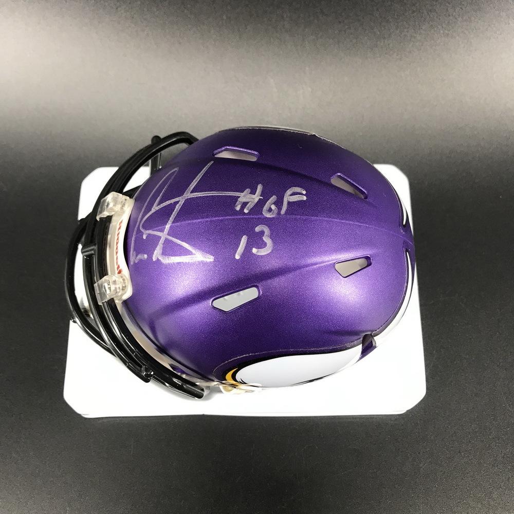 Legends - Vikings Chris Carter Signed Mini Helmet