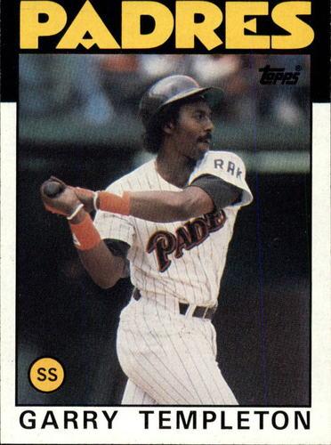 Photo of 1986 Topps #90 Garry Templeton