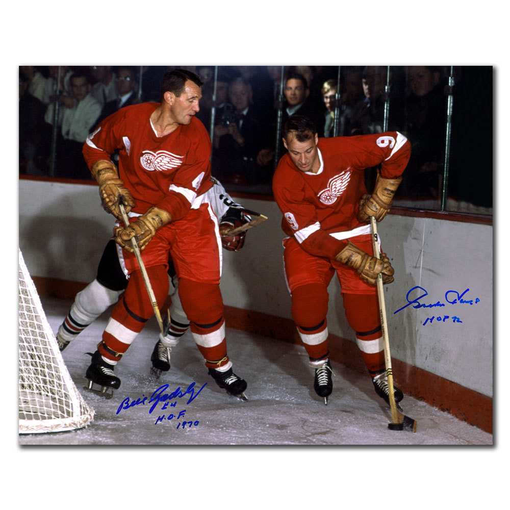 Gordie Howe & Bill Gadsby Detroit Red Wings Dual Autographed 16x20