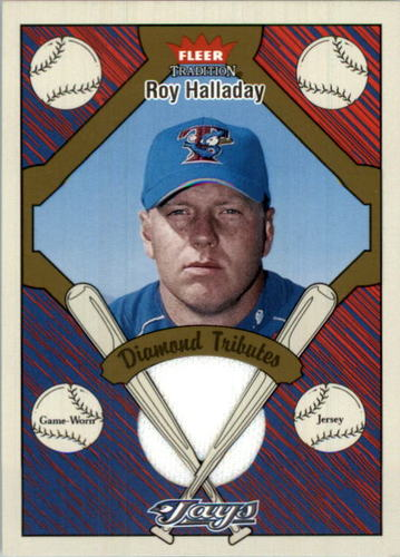 Photo of 2004 Fleer Tradition Diamond Tributes Game Jersey #RH Roy Halladay