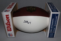 NFL - RAIDERS MARQUETTE KING SIGNED PANEL BALL