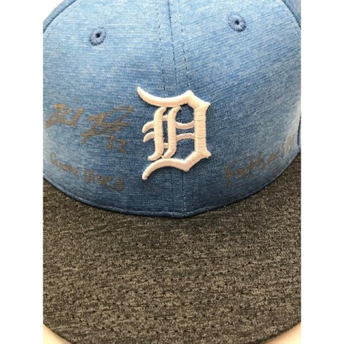 Photo of Autographed Game-Used Father's Day Cap: Michael Fulmer