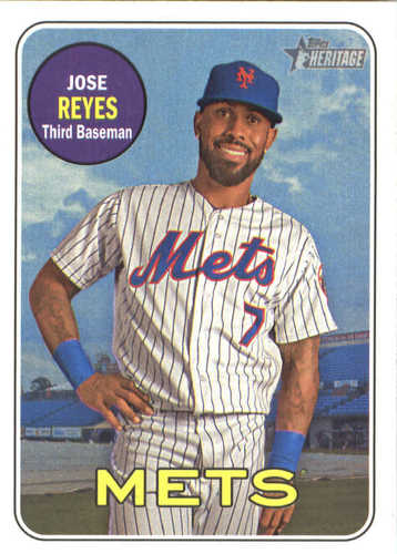 Photo of 2018 Topps Heritage #246 Jose Reyes UER/Missing career stats