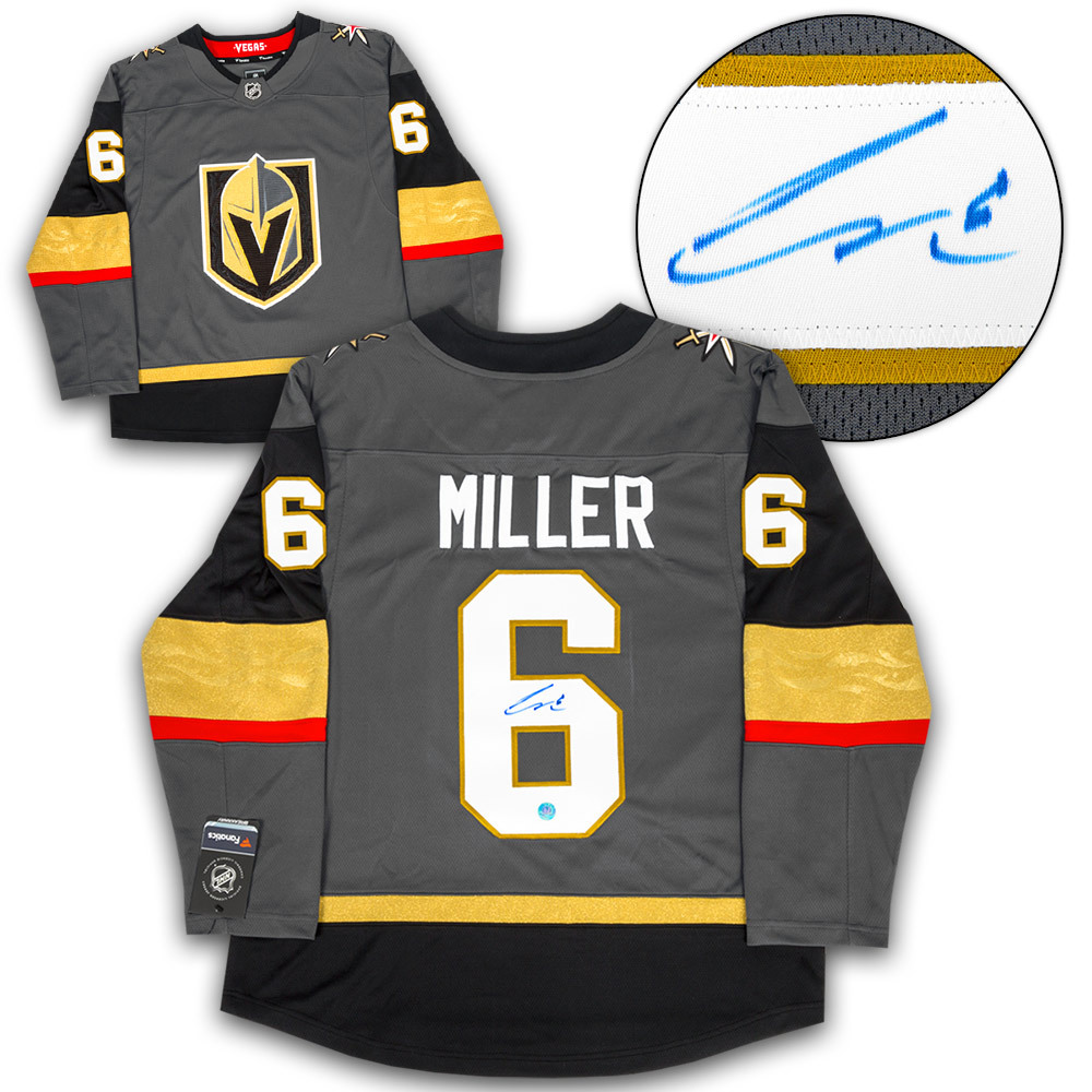 Colin Miller Vegas Golden Knights Autographed Fanatics Replica Hockey Jersey