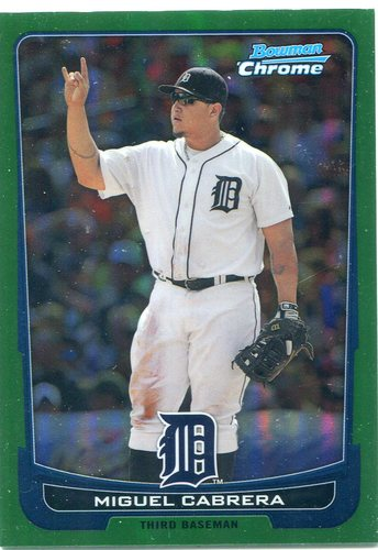 Photo of 2012 Bowman Chrome Green Refractors #36 Miguel Cabrera