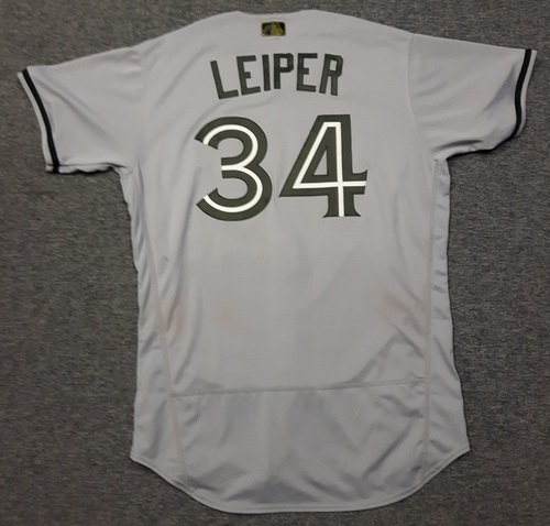 Photo of Authenticated Game Used 2018 Memorial Day Jersey - #34 Tim Leiper (May 26, 2018. May 28, 2018). Size 46