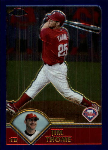 Photo of 2003 Topps Chrome Traded #T107 Jim Thome -- Newest Hall of Famer Class of 2018