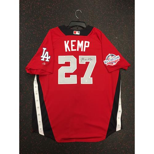 Photo of Matt Kemp 2018 Major League Baseball Workout Day Autographed Jersey