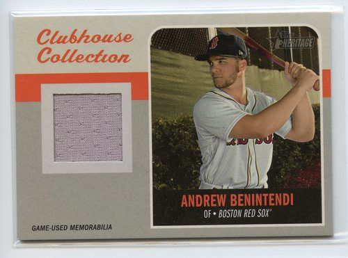 Photo of 2019 Topps Heritage Clubhouse Collection Relics #CCRAB Andrew Benintendi
