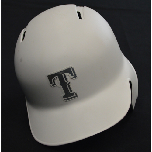"Photo of Scott ""BIG MIKE"" Heineman Texas Rangers Game-Used 2019 Players' Weekend Helmet"