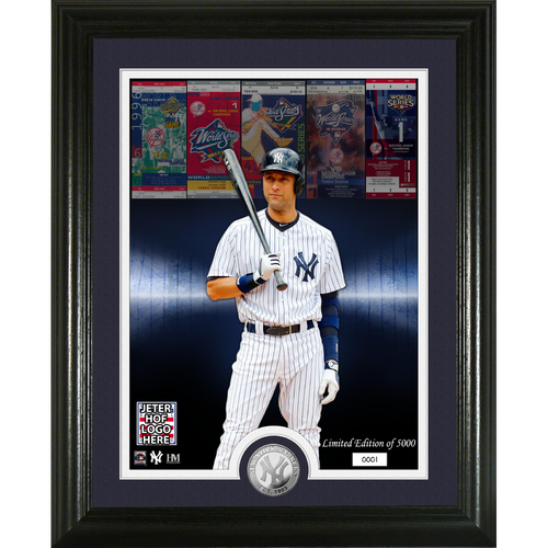 Photo of Derek Jeter 2020 Hall of Induction WS Champ Silver Coin Photo Mint