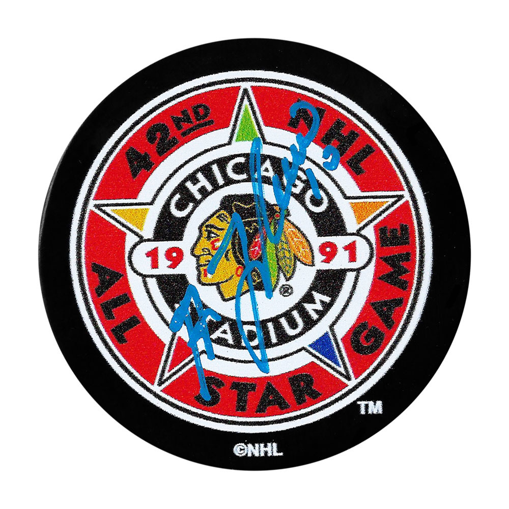 Guy Lafleur Autographed 1991 NHL All-Star Game Puck