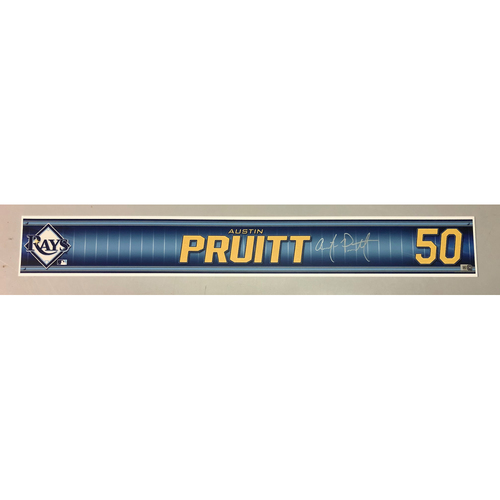 Photo of Team Issued Autographed Spring Training Locker Tag: Austin Pruitt