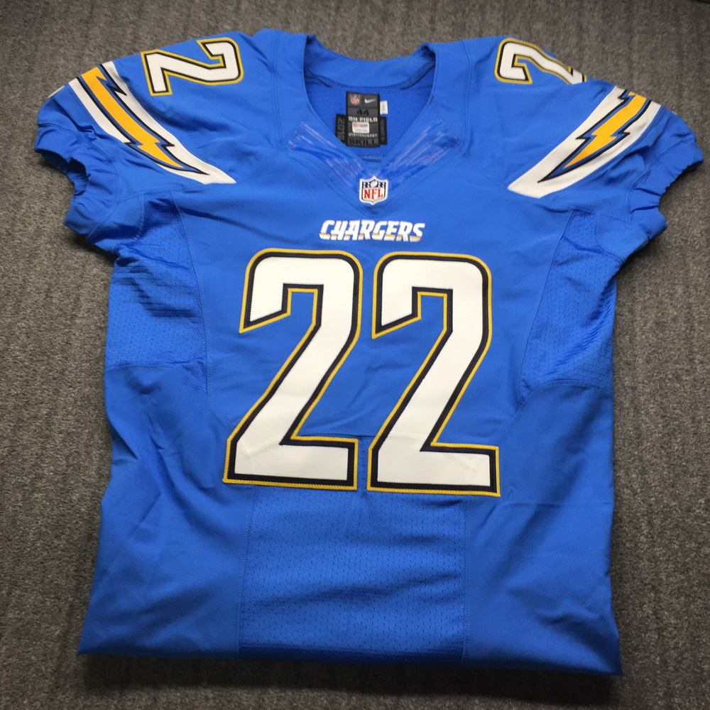 NFL Auction | Chargers - Jason Verrett Game Issued Jersey Size 44