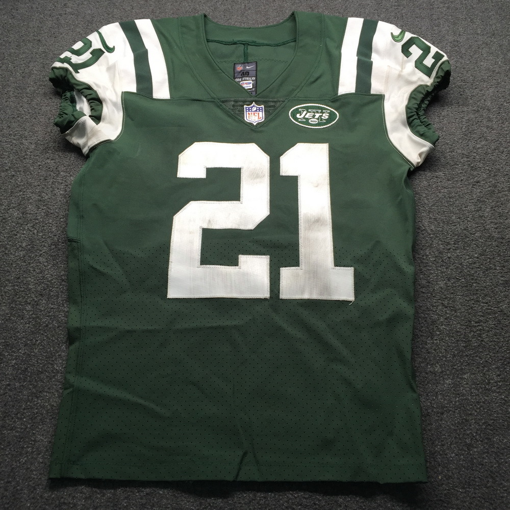NFL Auction | STS - Jets Morris Claiborne Game Used Jersey Patch ...