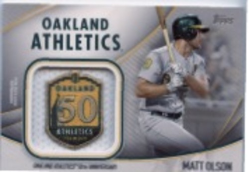 Photo of 2020 Topps Jumbo Special Event Jersey Sleeve Patches #JSESMO Matt Olson