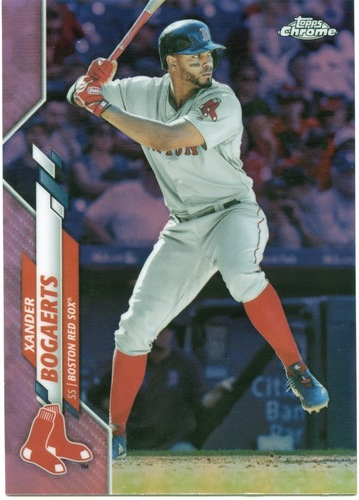 Photo of 2020 Topps Chrome Pink Refractors #137 Xander Bogaerts