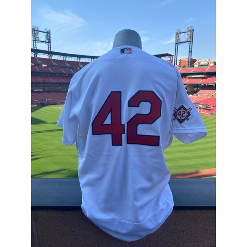 Photo of Cardinals Authentics: Team Issued Matt Carpenter Jackie Robinson Day Jersey