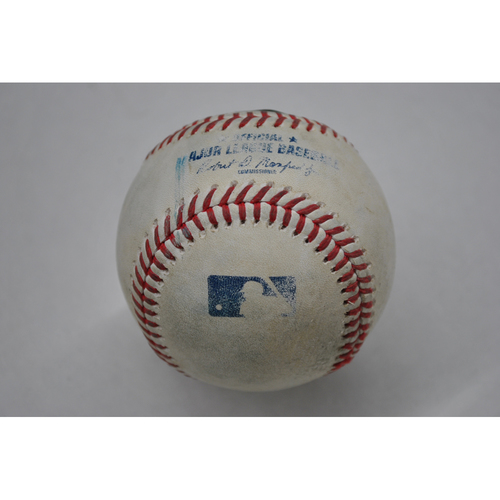 Photo of Game-Used Baseball - 2020 ALDS - Oakland Athletics vs. Houston Astros - Game 3 - Pitcher: Jose Urquidy, Batter: Matt Olson (Home Run to RF) - Top 4