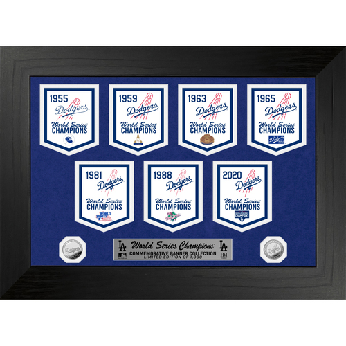 SERIAL #1 - Los Angeles Dodgers Commemorative Deluxe Championship Banner Collection