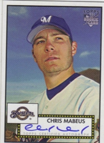 Photo of 2006 Topps 52 Signatures #CM Chris Mabeus I