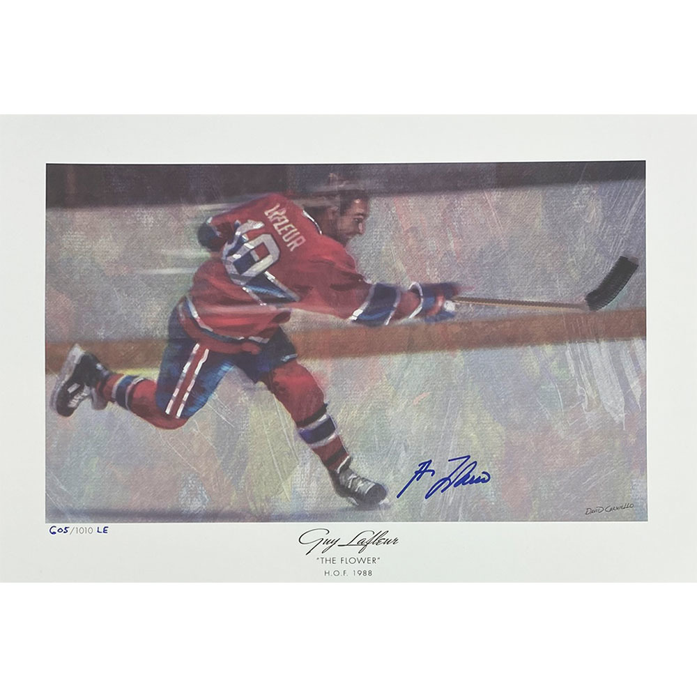 Guy Lafleur Autographed Limited-Edition Lithograph
