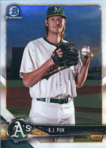 Photo of 2018 Bowman Chrome Prospects #BCP142 A.J. Puk