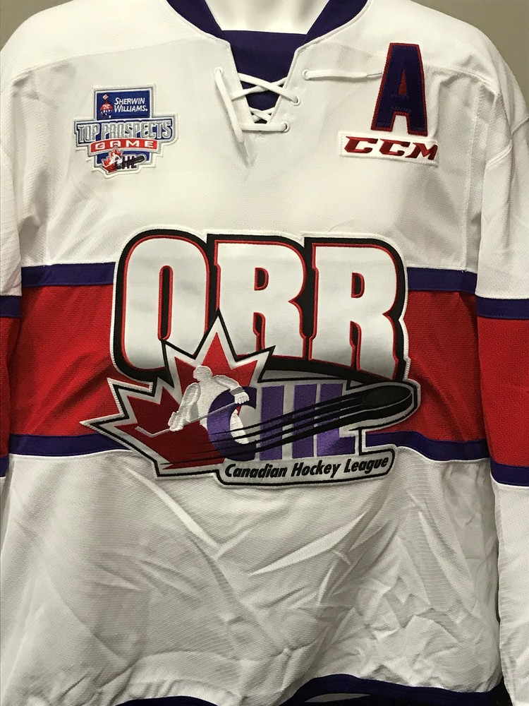 Home jerseys Andrei Svechnikov 2018 Sherwin-Williams CHL NHL Top Prospects  Game Worn Jersey af0415b93
