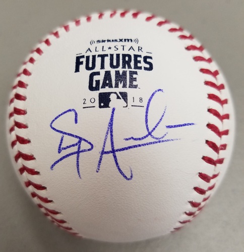 Photo of Shaun Anderson Autographed 2018 Futures Logo Baseball