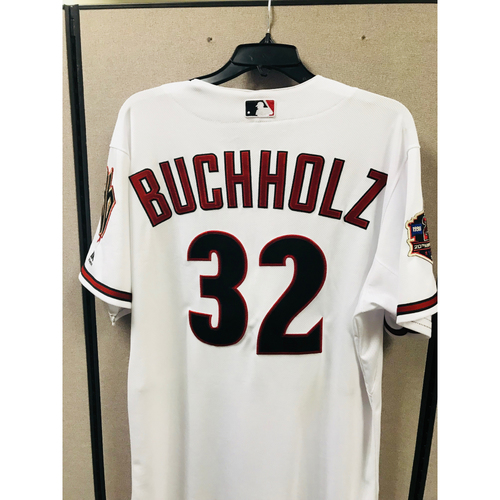 Photo of 2018 Team-Issued Throwback Clay Buchholz Jersey