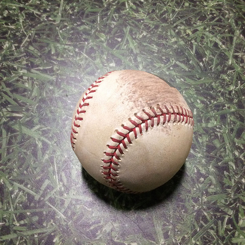 Photo of Game-Used Baseball STL@MIL 06/11/11 - Zack Greinke - Lance Berkman: Ball