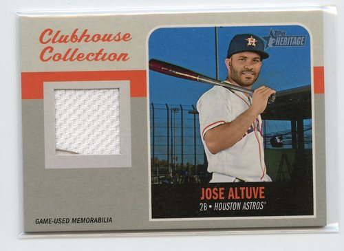 Photo of 2019 Topps Heritage Clubhouse Collection Relics #CCRJAL Jose Altuve