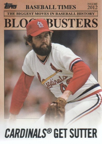 Photo of 2012 Topps Update Blockbusters #BB26 Bruce Sutter