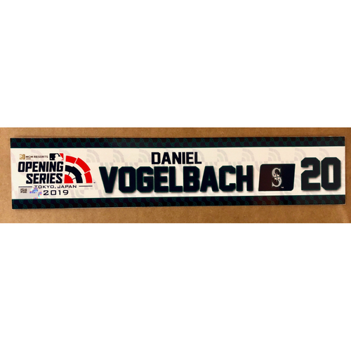 Photo of 2019 Japan Opening Day Series - Game Used Locker Tag - Daniel Vogelbach -  Seattle Mariners
