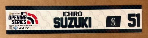 Photo of 2019 Japan Opening Day Series - Game Used Locker Tag - Ichiro Suzuki -  Seattle Mariners