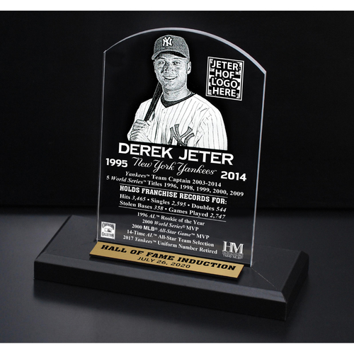 Photo of Derek Jeter 2020 HOF Etched Plaque
