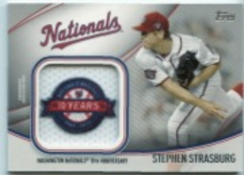 Photo of 2020 Topps Jumbo Special Event Jersey Sleeve Patches #JSESSS Stephen Strasburg